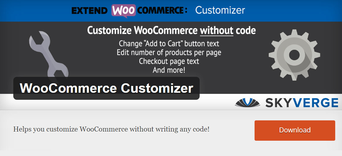 Free WooCommerce extensions: Customizer