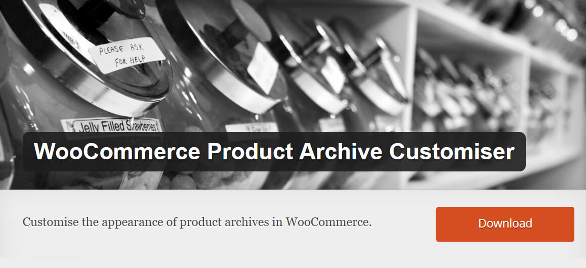 Free WooCommerce extensions: Product Archive Customiser