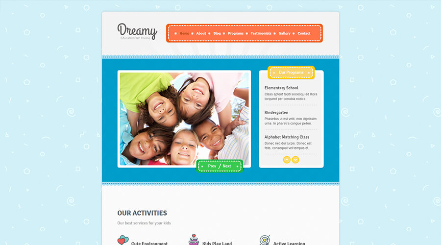 WordPress Education Themes: Dreamy