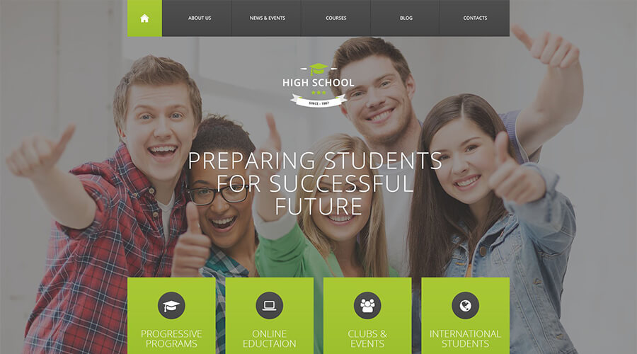 WordPress Education Themes: High School Promotion