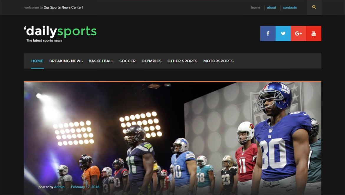 WordPress Sports Themes: dailysports