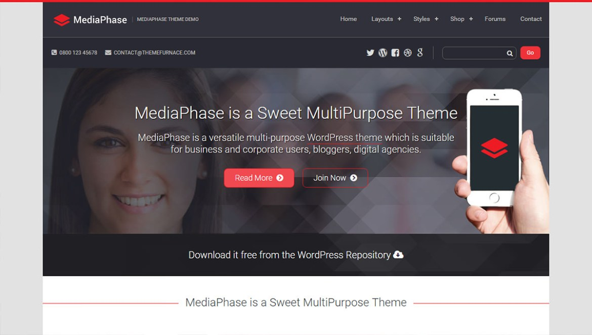 WordPress Sports Themes: mediaphase