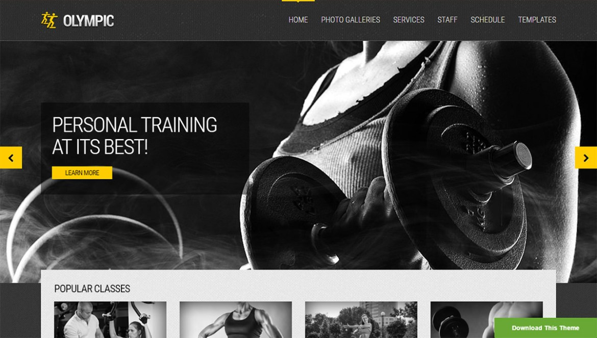 WordPress Sports Themes: olympic