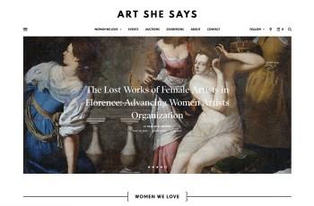 Art She Says WordPress Theme