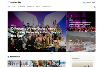 MindValley Blog WordPress Theme