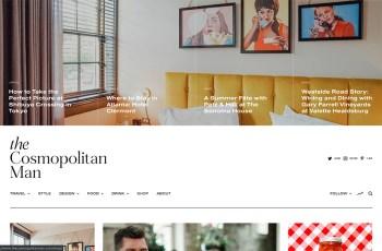 The Cosmopolitan Man WordPress Theme