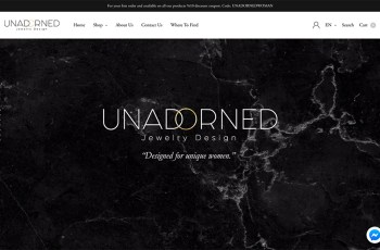 Unadorned Jewelry WordPress Theme