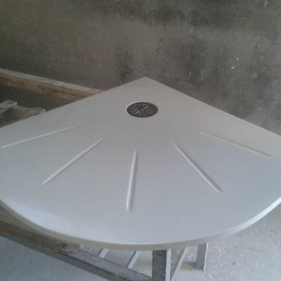 plato ducha compacto blanco a medida
