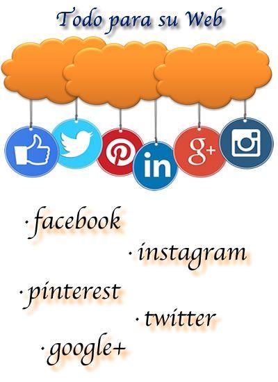 Iconos de diferentes redes sociales