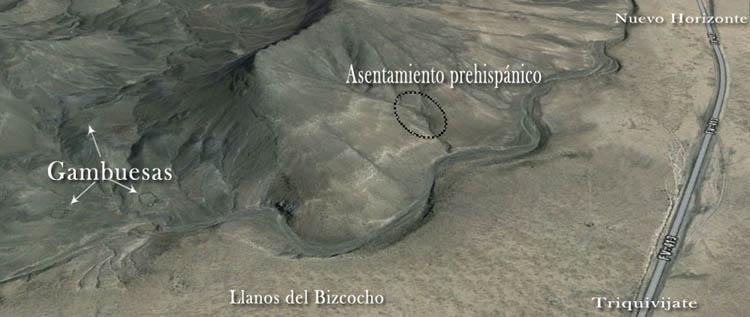 Asentamientos prehispánicos - Morros de Las Cadenas