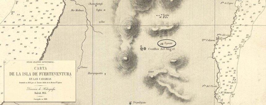 Mapa de Fuerteventura 1835
