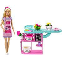 美國代購 芭比花店 Playset 與 12 在金髮娃娃, 花製造站 $13.42 - 亞馬遜 BarbieFloristPlaysetwith12inBlondeDollFlowerMakingStation1342Amazon