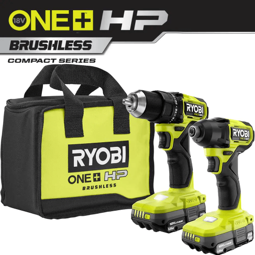 Fufilo 美國代購 RYOBI ONE+ HP 18V 無刷無繩緊湊型 1/2 in.鑽頭和衝擊驅動程式套件與 (2) 1.5 Ah 電池, 充電器和袋 - PSBCK01K - 家得寶 RYOBI ONE+ HP 18V Brushless Cordless Compact 1/2 in. Drill and Impact Driver Kit with (2) 1.5 Ah Batteries, Charger and Bag-PSBCK01K - The Home Depot