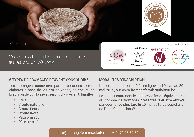Inscrivez-vous au concours du meilleur fromage fermier au lait cru de Wallonie!