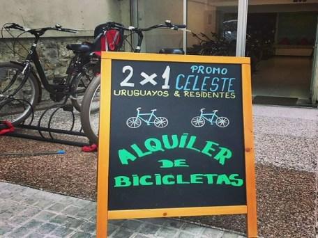 Aluguel de bicicletas em Montevideu