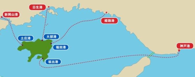 小豆島と港