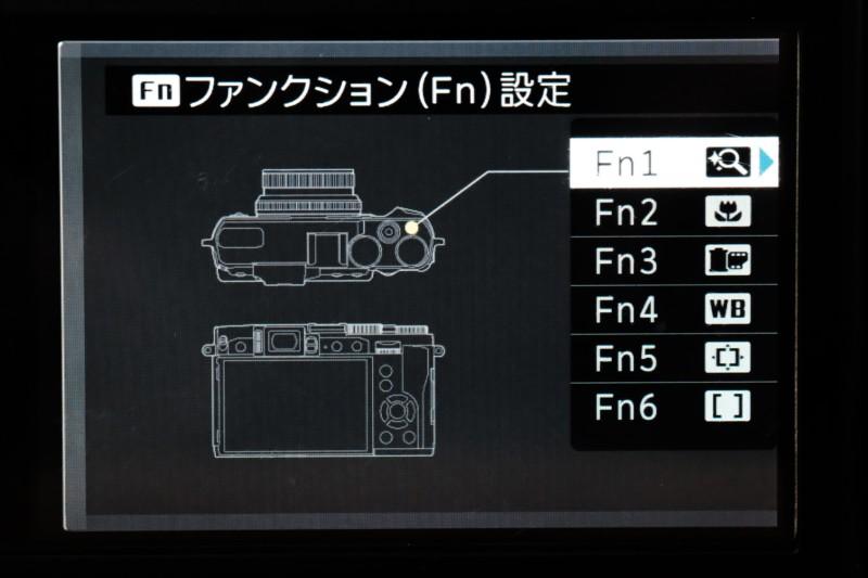 X308FUJIFILM) Fnボタン割り当て