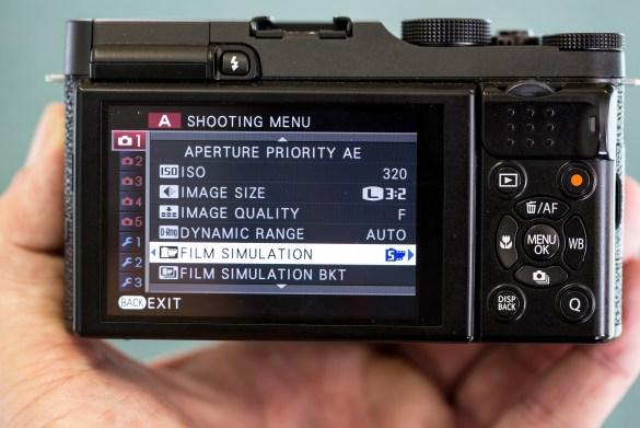 Select Film Simulation in the Shooting Menu