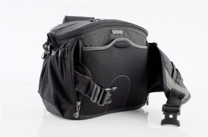 The Speed Racer by ThinkTank nicely distributes the weight between your shoulders and your back. I also like the fact that you can add extra modular pouches to the waist belt. This lets you pack as light or as heavy as you need.