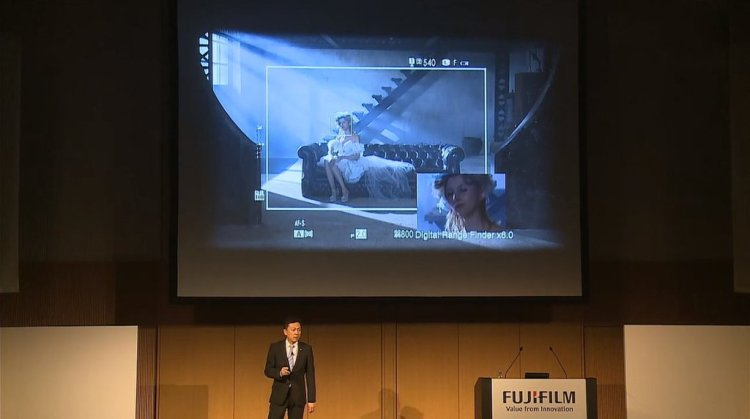 """Mr Iida talks up X-Pro2's advanced hybrid multi viewfinder. The only one of its kind in the world"" - Wex Photographic"