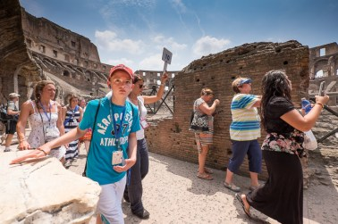 Tourists at the Collosseum - a flip out screen would have been handy. XF10-24mm, 1/1900sec at f/5, ISO 200
