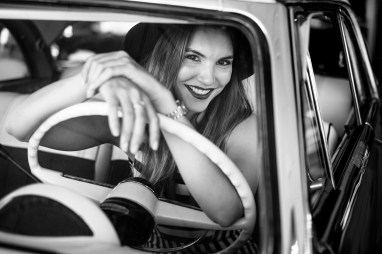 Chantelle is in a restored classic car with a $30k price ticket in a showroom in Kingman on the old 66. There is an inspiring love for recent heritage in this part of the USA. XF35mm f/1.4 at f/2