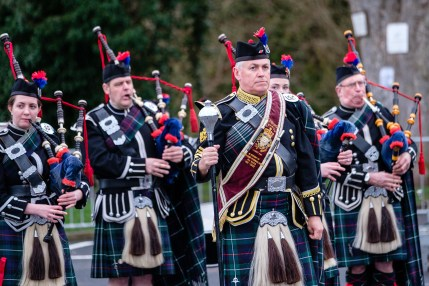 Border Counties Rally Jedburgh Royal British Legion Pipes and Drums