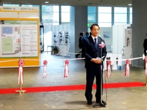 オープニングセレモニーにて主催者を代表し村岡県知事がご挨拶をされました