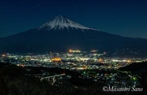 月夜の富士