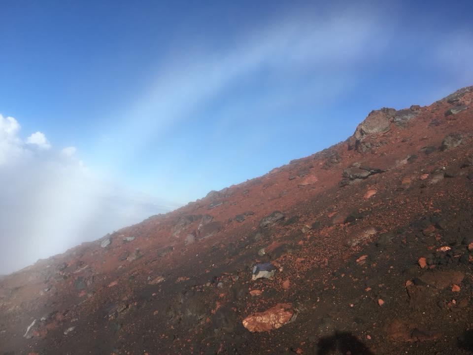 富士山の白虹(霧虹)