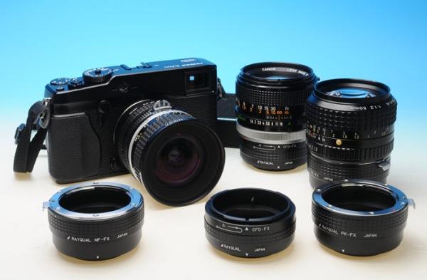 Adaptadores Rayqual para la montura X de Fujifilm XPro