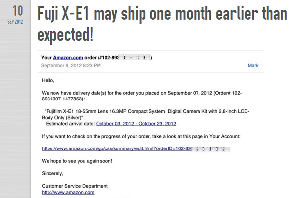 Fuji X-E1 puede llegar un mes antes en USA