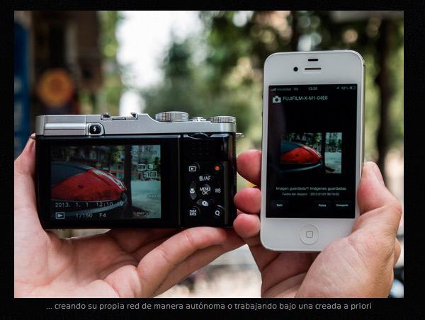 Captura de la web DSLRMagazine probando el WiFi de la Fuji X-M1