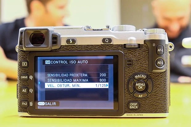 Configuración del ISO automático de la Fuji X-E2