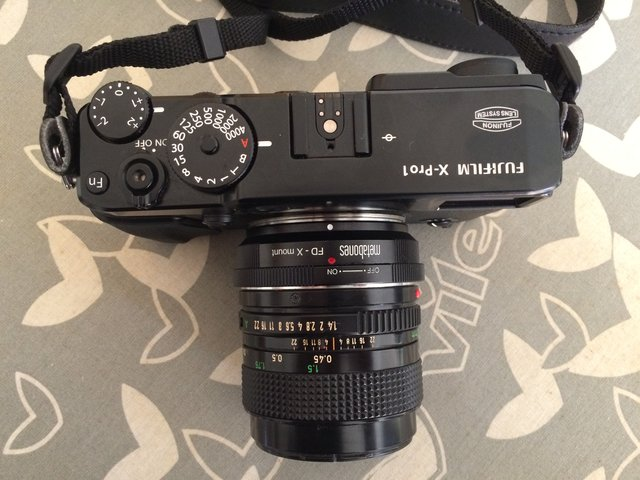 Fuji X-Pro1 + Metabones FD a FX + Canon FD 50mm f/1.4 por Javier Piñeiro