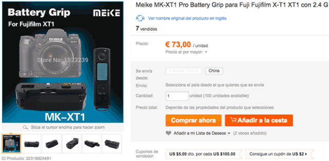 Grip Meike MK-XT1 Pro para Fujifilm X-T1