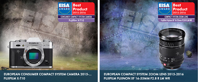 Premios EISA 2015-2016 para Fujifilm