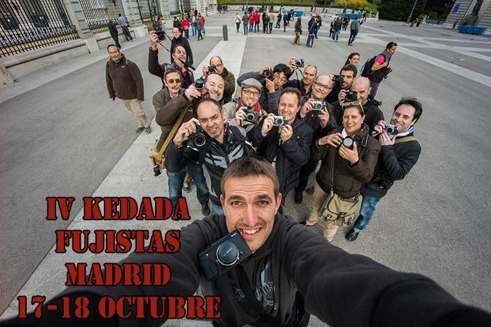 Llamamiento a la IV kedada de fujistas en Madrid.