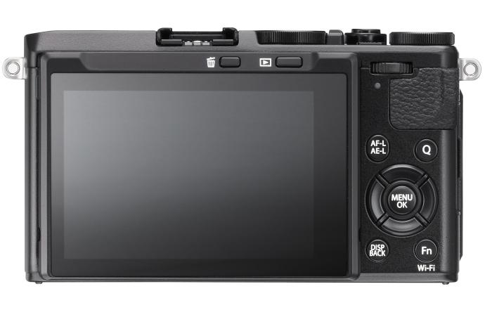 Fujifilm X70, vista trasera