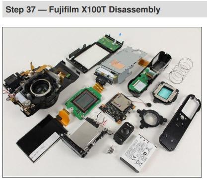 Desmontaje de la Fuji X100T.