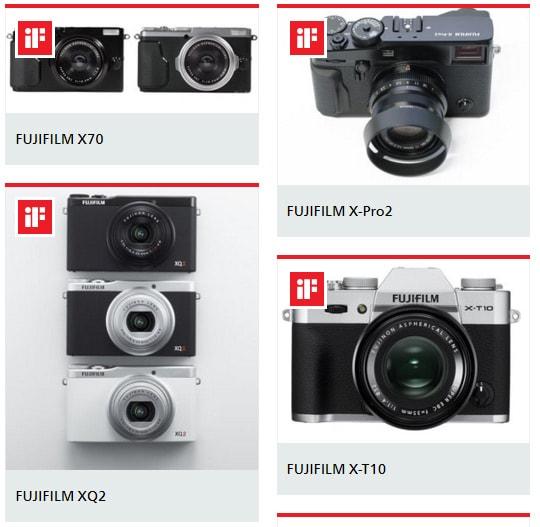 Fujifilm triunfa en los IF Awards 2016-