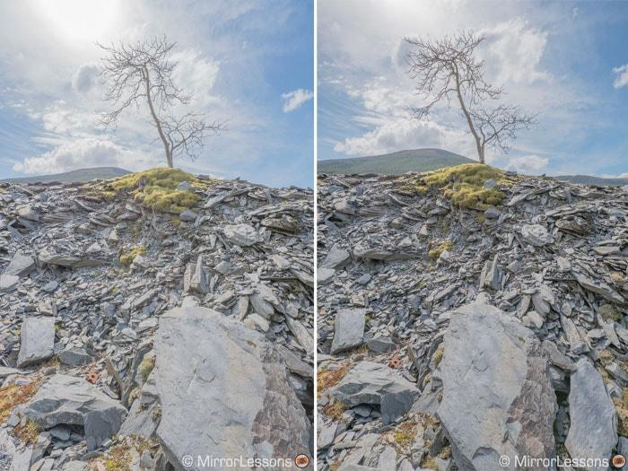 Comparativa de rango dinámico: Sony A6300 (izquierda) frente a Fuji X-Pro2 (derecha). Fotografías de Mirrorlesons.