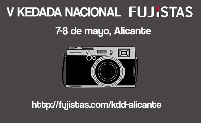 Cartel de la kedada de Fujistas en Alicante.