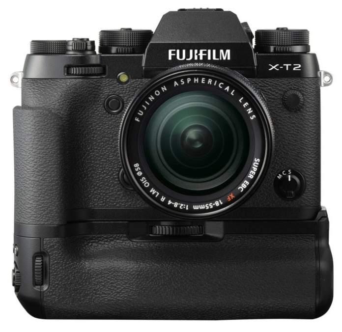 Empuñadura de la Fujifilm X-T2.