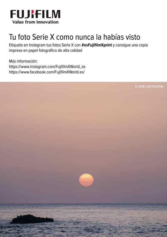 """""""Tu foto Serie X como nunca la habías visto"""", nuevo concurso de Fuji España en Instagram."""