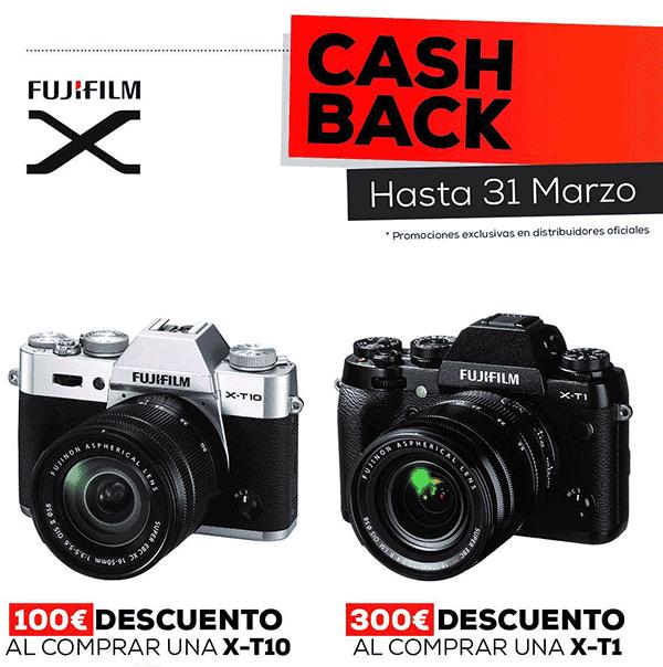 Cashback X-T1 y X-T10.