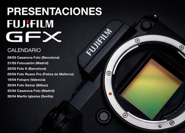 Presentaciones Fujifilm GFX 50S.