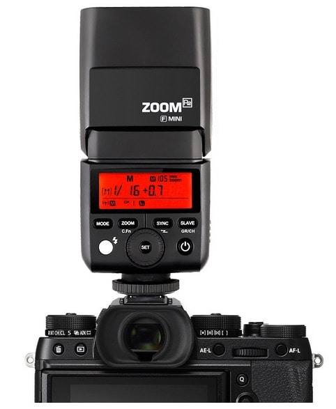 Flash Godox TT350 en la Fuji X-T2.
