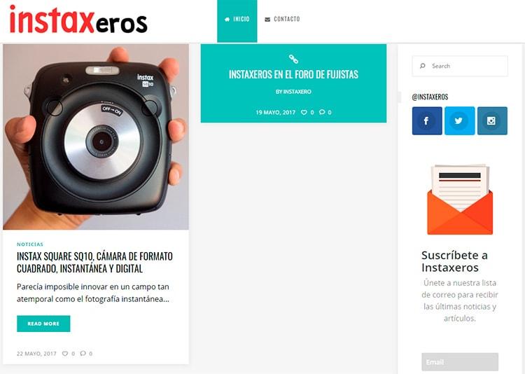 Captura de la web de Instaxeros.