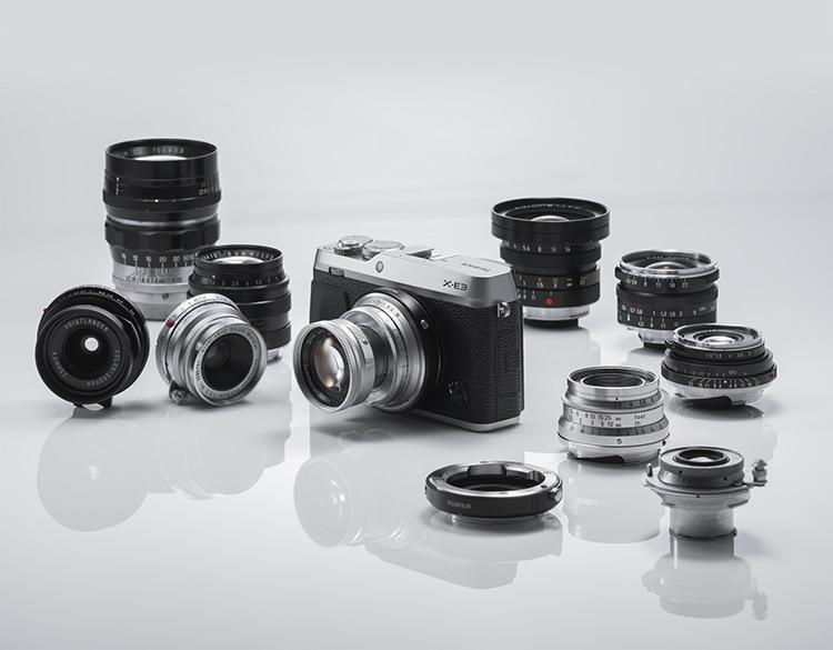X-E3 con objetivos Leica adaptados.